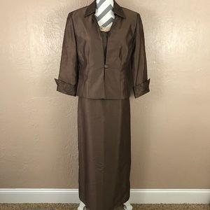 Jessica Howard Brown 2 Piece Formalwear